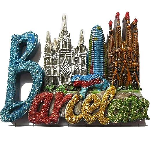 Ximai - Imán para nevera con letras de Barcelona - Imán para ...