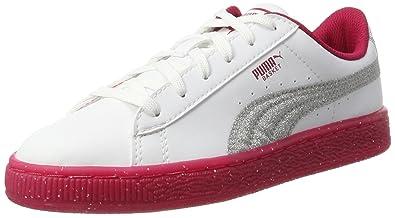 Puma Unisex-Kinder Smash V2 L JR Sneaker, Weiß White White 2, 35.5 EU