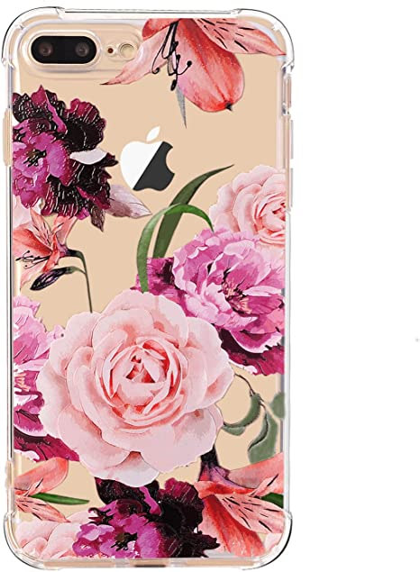 Luolnh Iphone 7 Plus Case With Flowers Iphone 8 Plus Amazon Co Uk