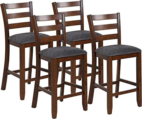 COSTWAY Set of 4 Counter Height Bar Stool