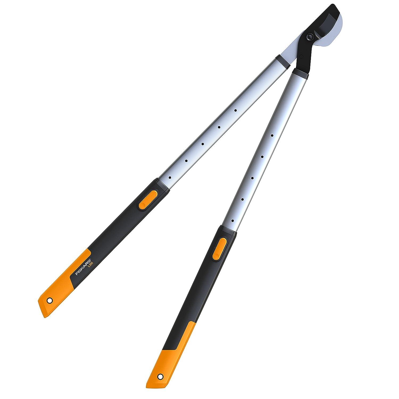 Longueur: 68-93 cm Rev/êtement antiadh/ésif HS86 Noir//Orange Lames en acier haute qualit/é 1013565 Fiskars Cisaille /à haies t/élescopique SmartFit