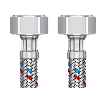 """flexibler Anschlussschlauch 1//2/"""" IG x 3//8/"""" IG 200mm Flexschlauch"""