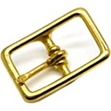 Okones Pack of 4,1''(25mm) Inner Width,Solid Brass Rectangle Buckle for Straps Bags Belting Leathercarft (insides 1'')