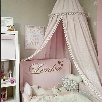 L Y Jungen Mädchen Kinder Prinzessin Baldachin Bett Volant Kinder Zimmer  Dekoration Baby Bett Runde Moskitonetz Zelt