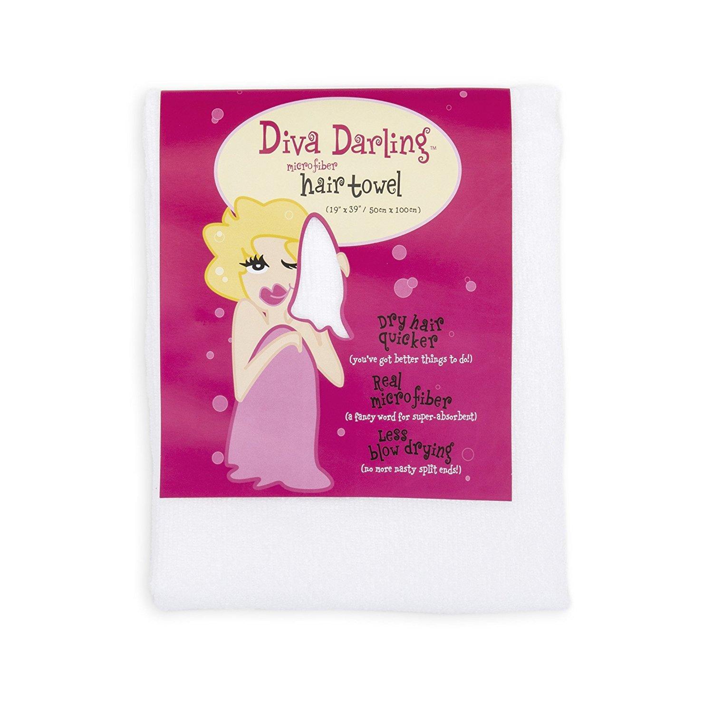 Mimi de secador de Diva por Aquis toalla de pelo de microfibra, color blanco (19 x 39-inches): Amazon.es: Salud y cuidado personal