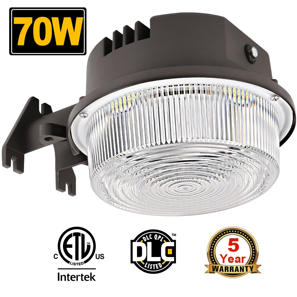70W LED Barn Lights Dusk to Dawn Outdoor Area Lights Photocell Included BBOUNDER 9800LM (700W Incandescent Equiv.) 5000K Daylight Weatherproof ETL&DLC Listed for Yard Street 5-Year Warranty by BBOUNDER