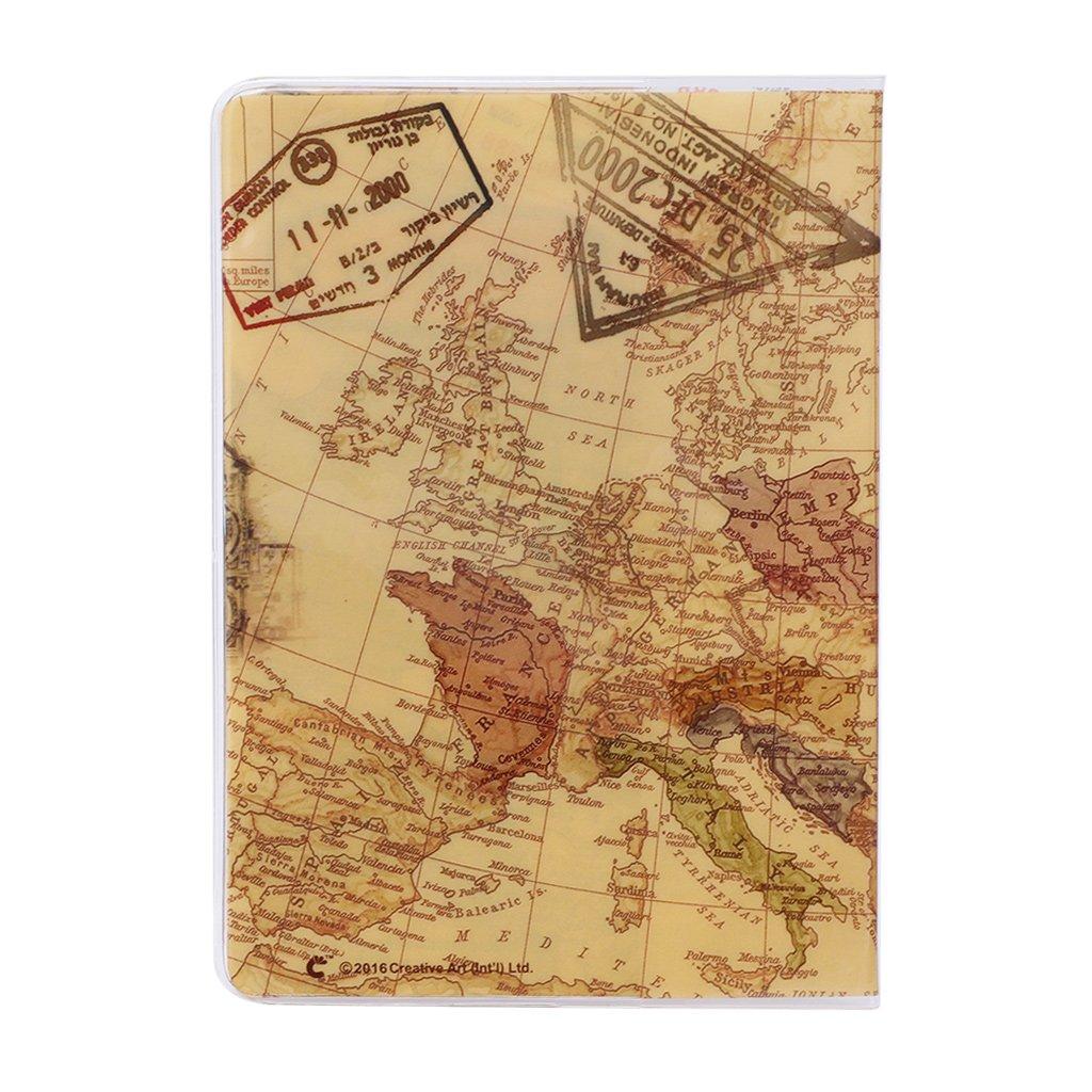 Funda protectora de PVC para tarjeta de identificaci/ón de pasaporte de Travel Utility 1
