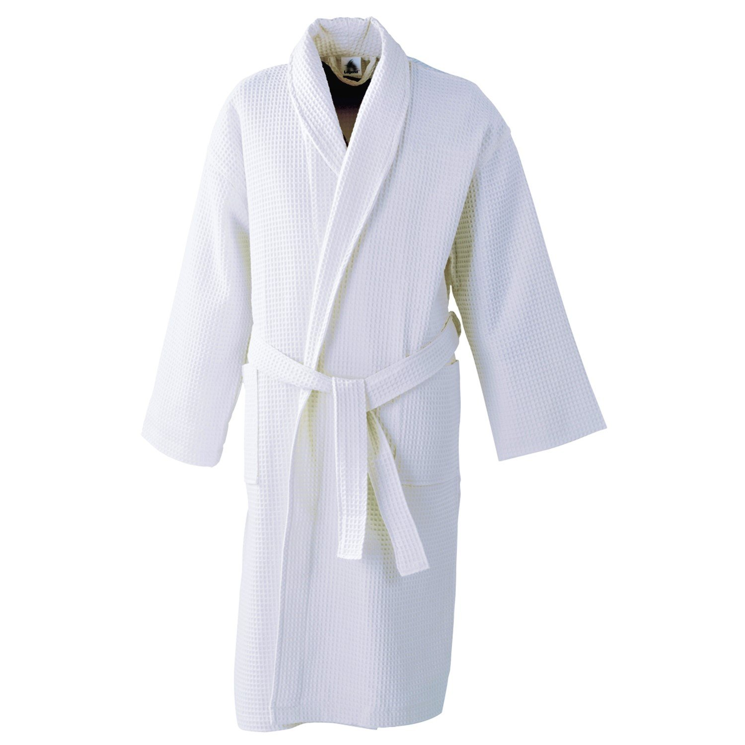 Glamptex Supreme Waffle Bath Robe Ladies Mens White Lightweight Hotel  Cotton Dressing Gown (Large 6e5c5aeea