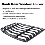 Matte Black Rear and Side Window Louvers Sun
