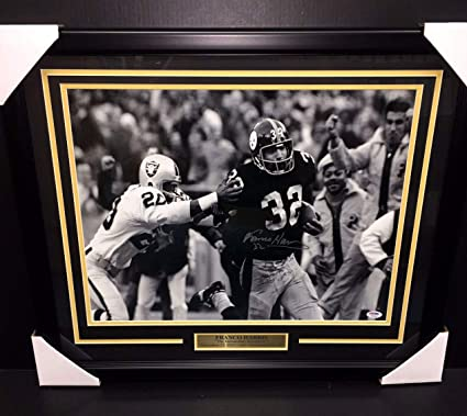 d4fc147080f Image Unavailable. Image not available for. Color  Franco Harris  Autographed Signed Immaculate Reception ...