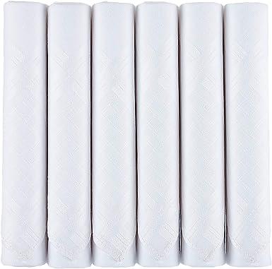 Caja de pañuelos blancos para hombre de algodón suave de calidad ...