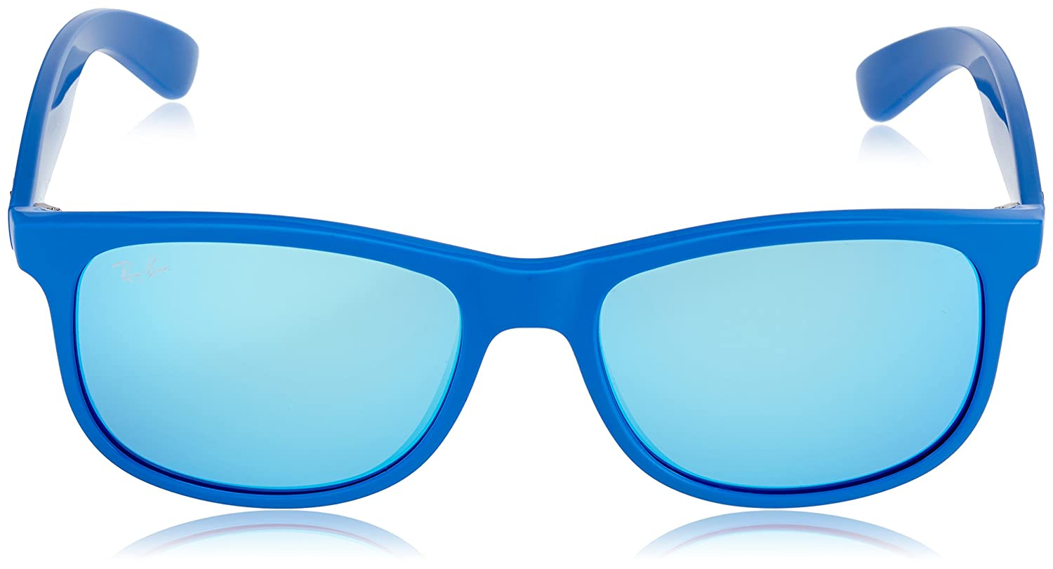 a6f15ec37af169 Ray-Ban ANDY - MATTE BLUE Frame BLUE MIRROR Lenses 55mm Non-Polarized   Amazon.ca  Clothing   Accessories