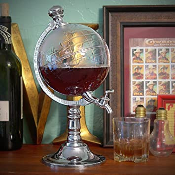 Takestop® spillatore globo 1.5 L Alla enchufe fresca globo terráqueo dispensador bebidas Whisky Cerveza alcoliche dispensador dispensador: Amazon.es: ...