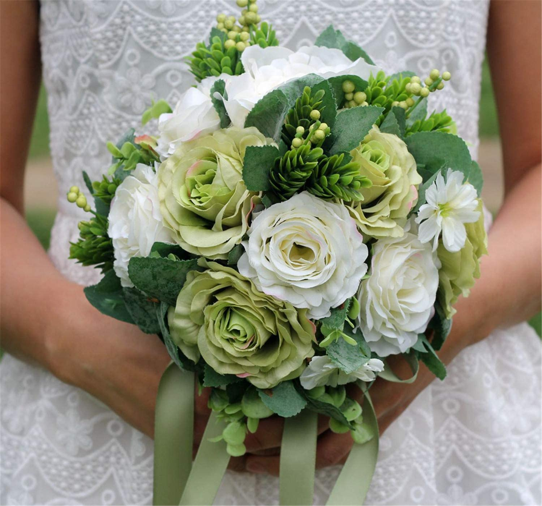 Bouquet Sposa Wikipedia.Amazon Com Elegence Z Wedding Flower Real Touched Wedding Flower