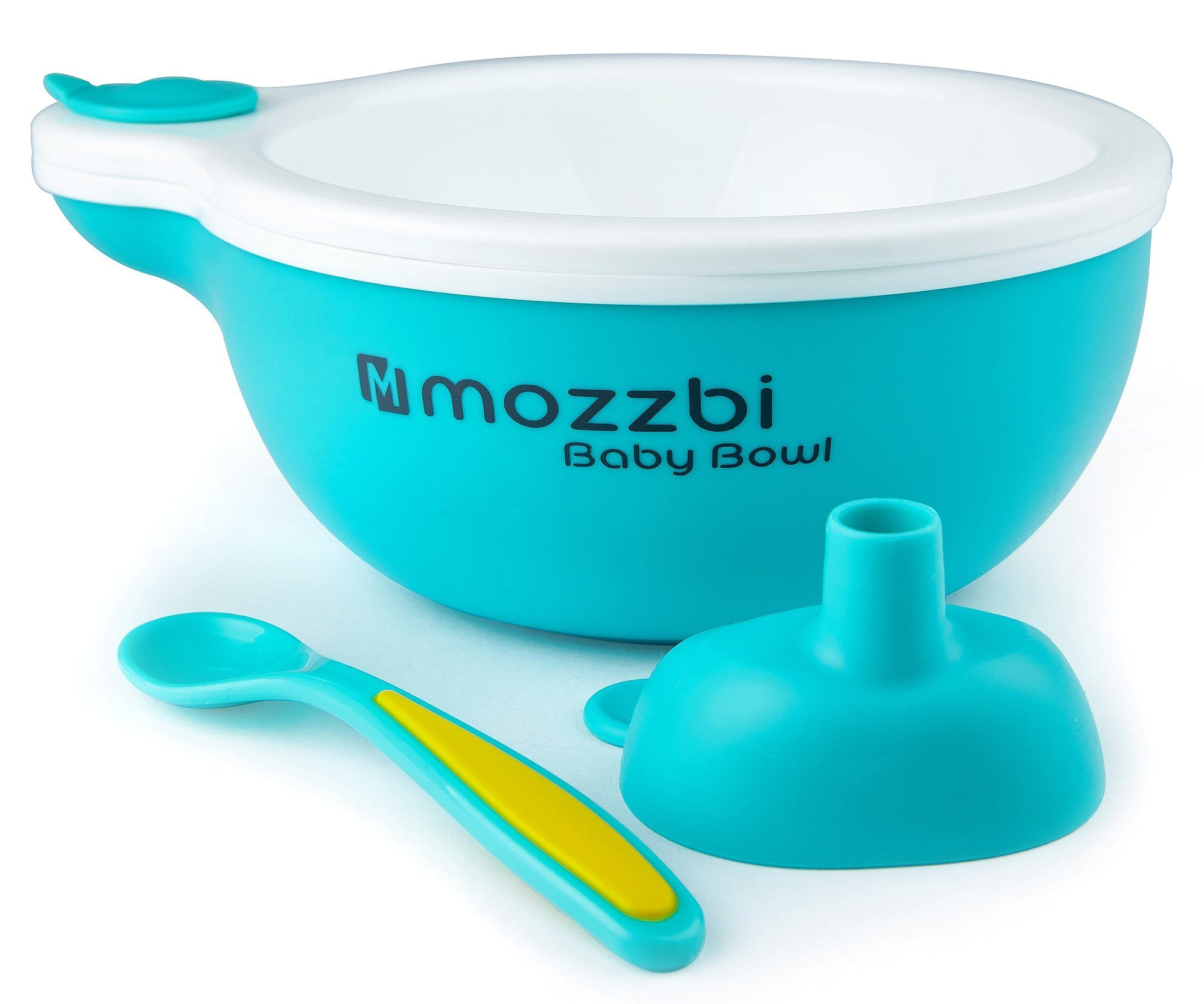 Feeding Bowls, Baby Spoon + Pour in Hot water Funnel to Keep Food Warm by Mozzbi