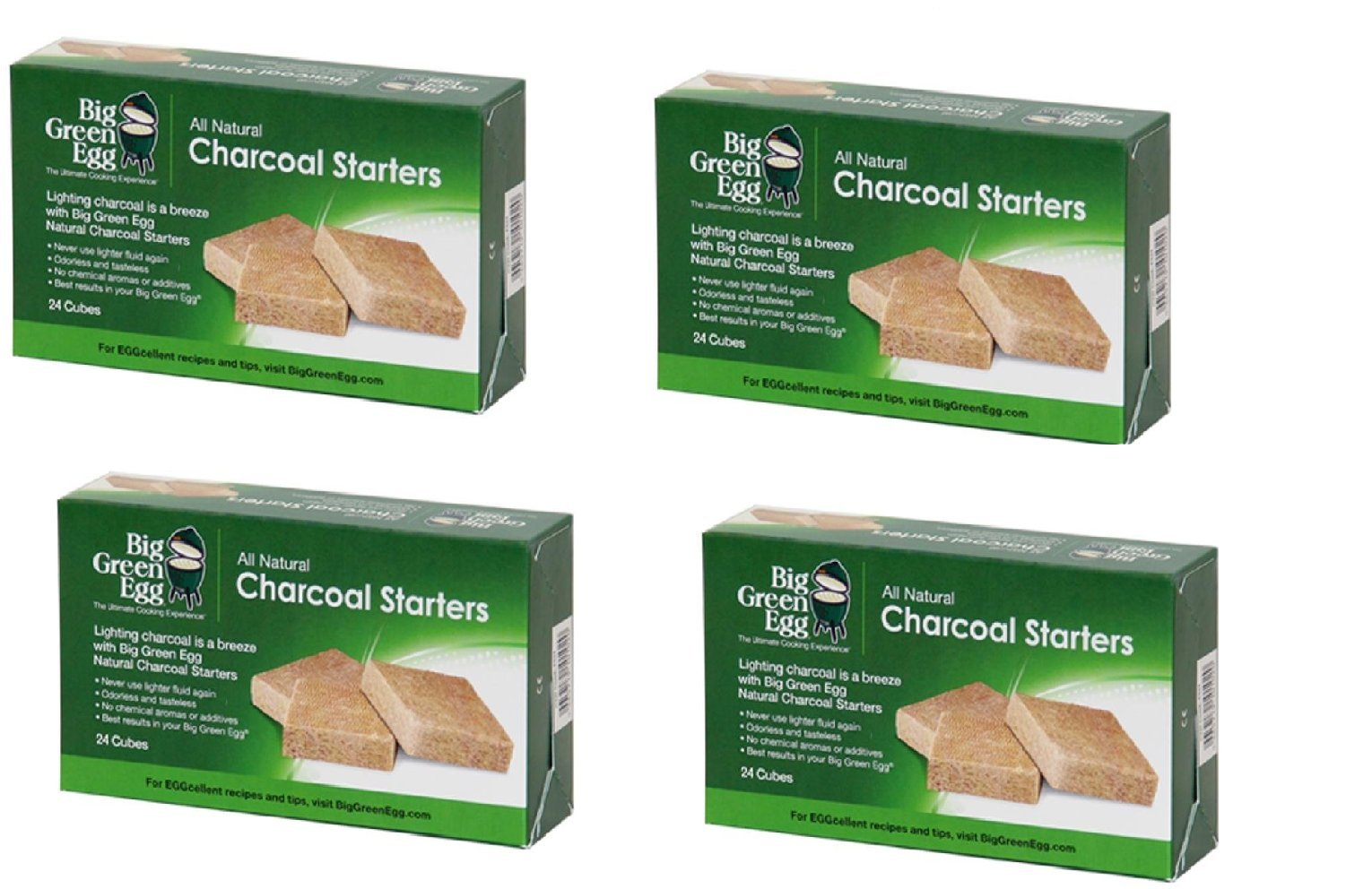 Big Green Egg All Natural Charcoal Starters - 24 cubes (4 BOXES)
