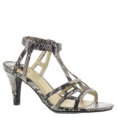 Madeline Women's Merle Ankle Strap Sandal,Bone,US 6.5 M