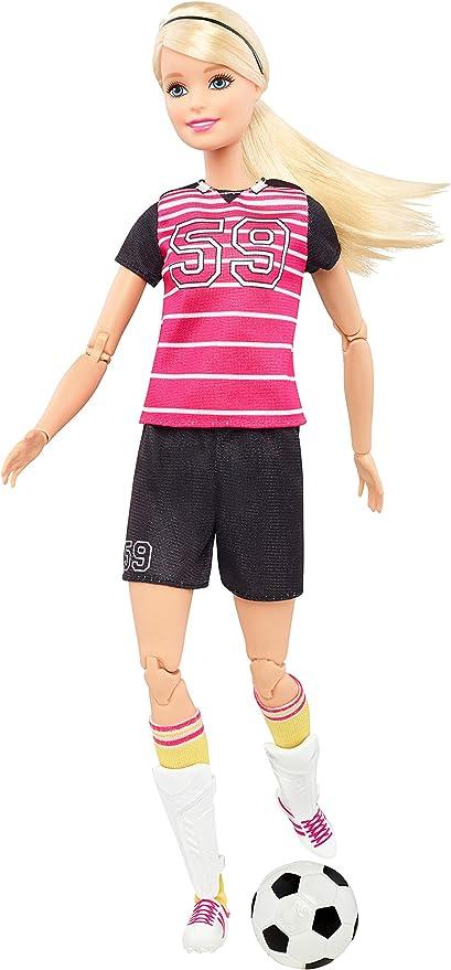 Amazon.es: Barbie Quiero Ser futbolista, muñeca rubia con ...