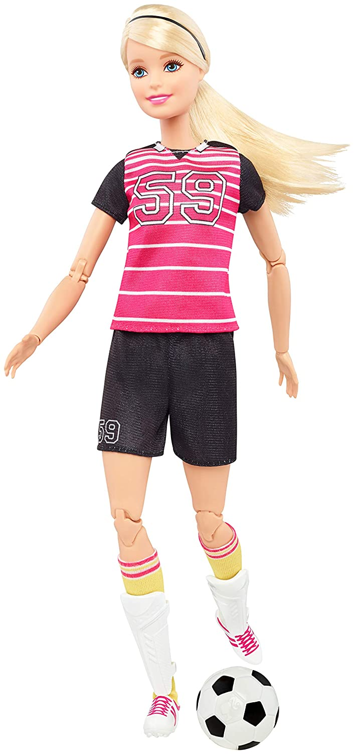 BarbieMade to Move Soccer Player Doll