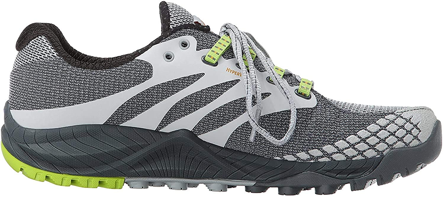 Dormitorio raqueta Infectar  Buy Merrell Men's All Out Charge Trail Running Shoe Grey/Lime Green 11.5  D(M) US at Amazon.in