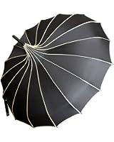 VIVISKY(TM) Pagoda Peak Old-fashionable Ingenuity Umbrella Parasol (black)
