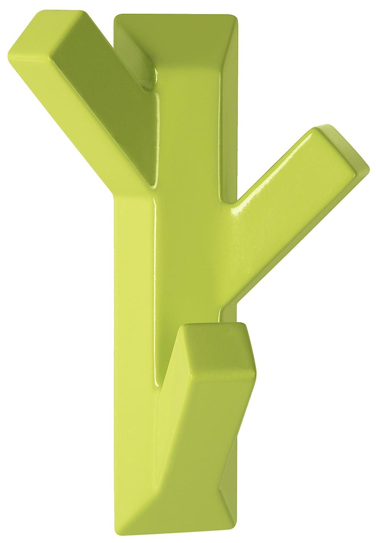 Spirella colección Tree, Gancho Adhesivo 7,4x10,9, ABS, Verde, plástico, 10.9 x 7.4 x 4 cm 1018744