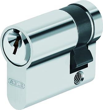 ABUS EN Demicylindre Pour Porte De Garage X Mm Nickelé - Cylindre porte
