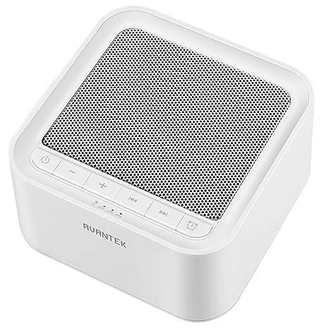 AVANTEK Máquina de Ruido Blanco, 20 Sonidos Naturaleza, Volumen Ajustable, Opciones de Temporizador