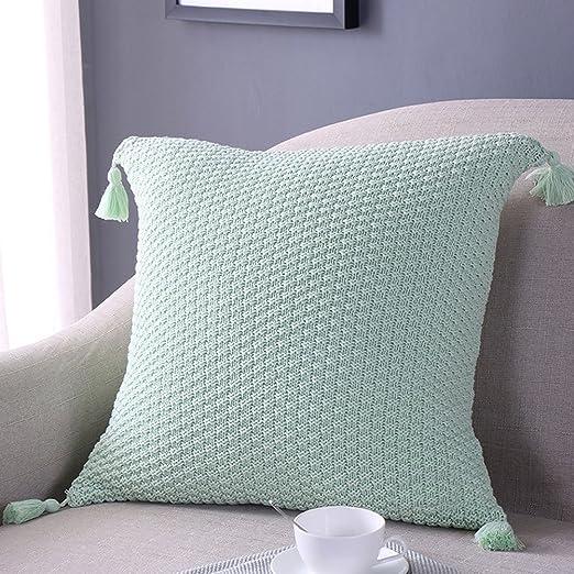 fnkscraft® 1pc tejer algodón funda para cojín con borlas (18 ...