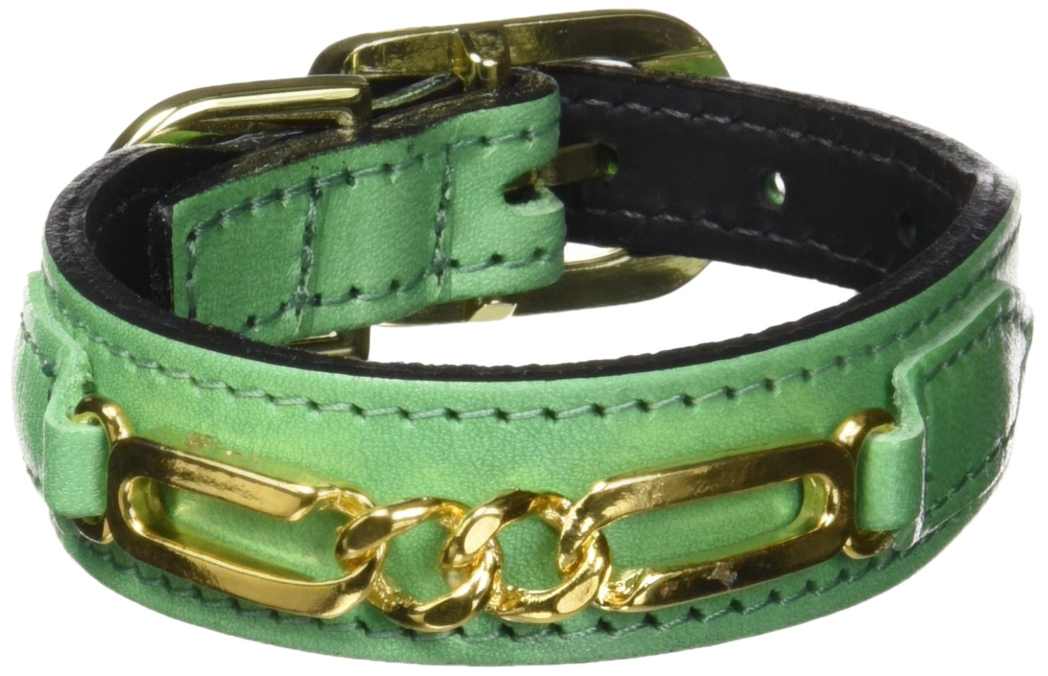 Hartman & pink 1568 Central Park Dog Collar, 8 to 10-Inch, Kelly Green