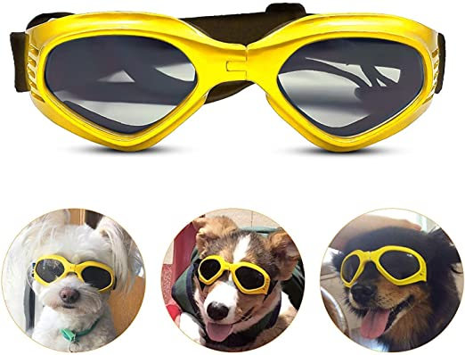 Small Dog Sunglasses Waterproof Windproof UV Protection For Dog... Dog Goggles