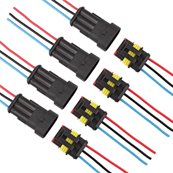 Waterproof Wire Connector,3-Way 3-Core Y-Type Wire Plug,3 Pin Junction Box Cable Connector Electrical Wire Connector,for Electrical Accessories