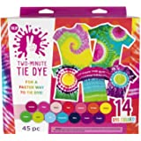 Tulip One-Step Tie-Dye Kit Tulip Two-Minute Kit, Fast & Easy Tie Dye, Fast Crafts, Party Supplies, 14 Bright Colors