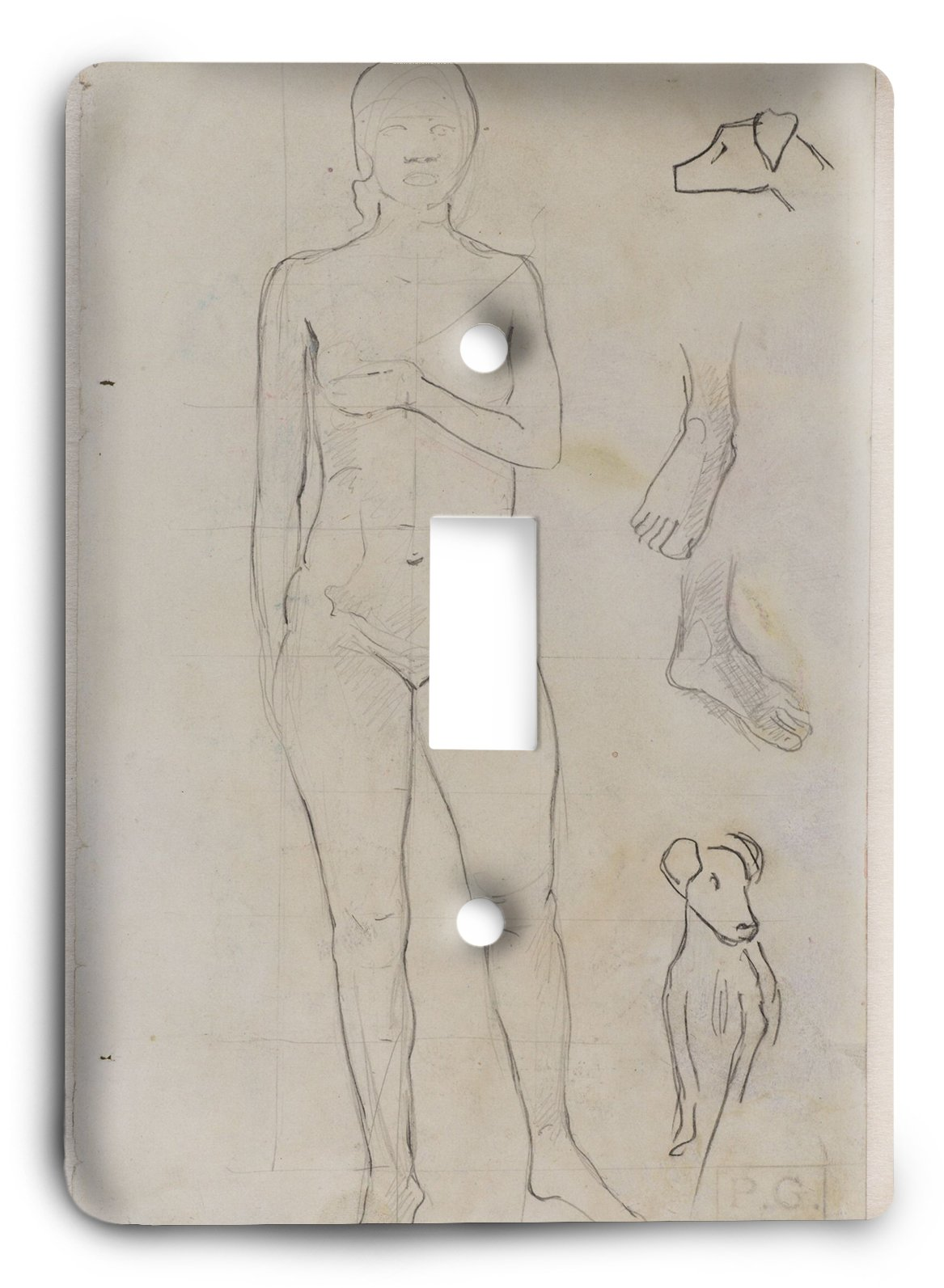 Paul Gauguin Standing Tahitian Woman Recto Light Switch Cover
