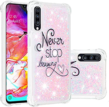 SHUYIT Samsung Galaxy A70 / Galaxy A7 2019 Funda, Glitter Liquid ...
