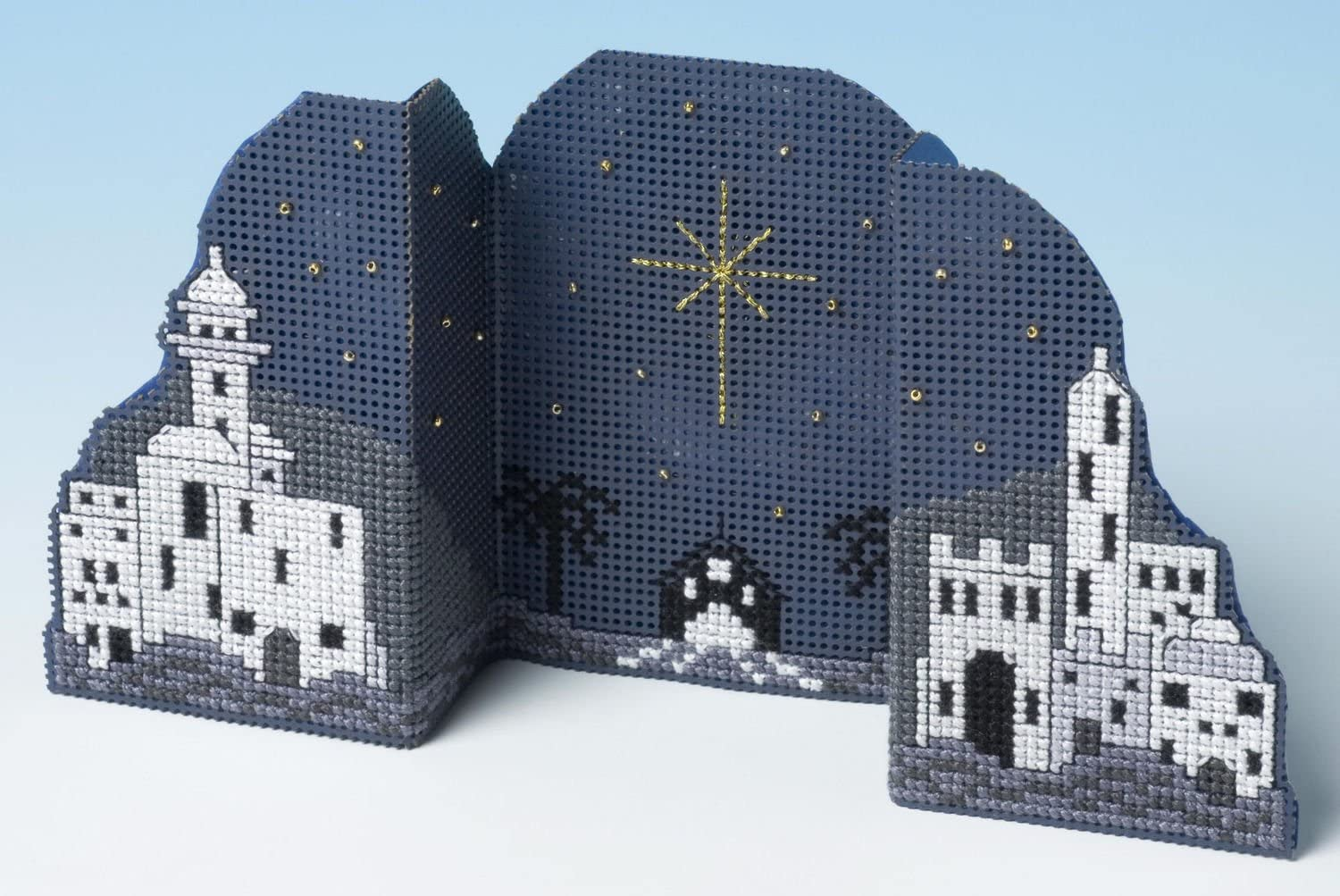 The Nutmeg Company Snow Globe Christmas Card 3D Counted Cross Stitch 14 Count