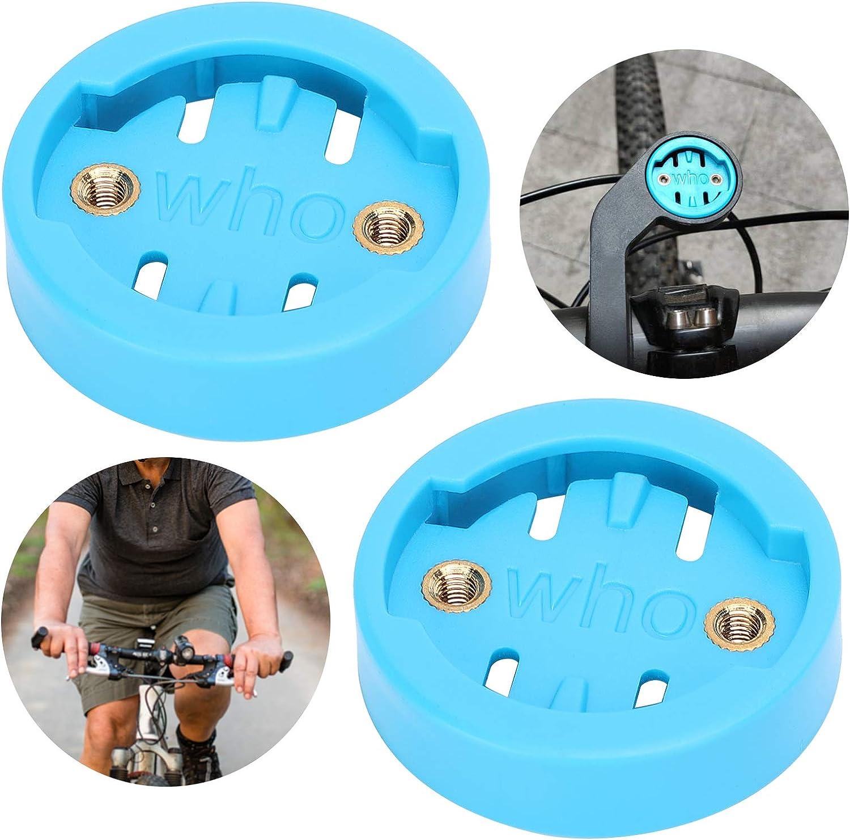 2 Piezas de Adaptador de Montaje para Ordenador para Bicicleta AMONIDA Adaptador de Ordenador para Bicicleta 12 g para Base de Montaje en Bicicleta Garmin Manillar de Bicicleta Wahoo Manillar