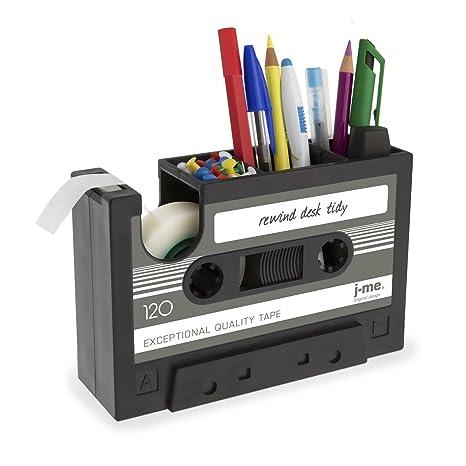 SODIAL Dispensador de Cinta de Cassette Boligrafo Florero Lapiz Maceta Papeleria Escritorio Ordenado Contenedor Oficina Papeleria