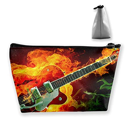c6f39be4a94b Amazon.com: Travel Cosmetic Bags Electric Guitar Small Makeup Bag ...