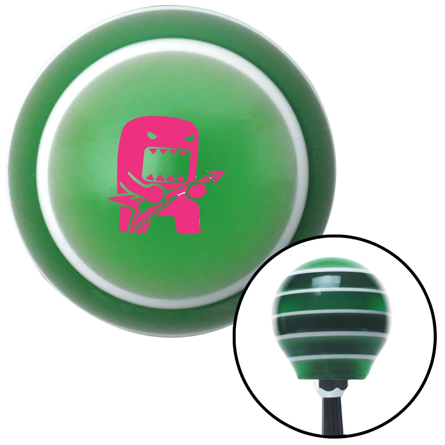 Pink Domo Jammin American Shifter 122148 Green Stripe Shift Knob with M16 x 1.5 Insert