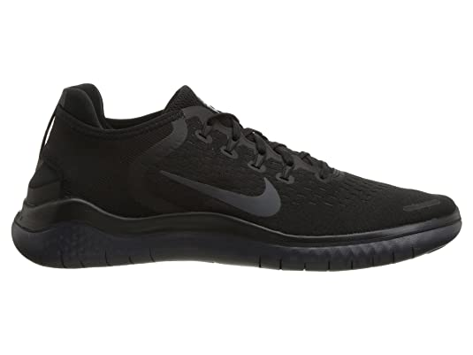 huge selection of 05cc8 c7455 Amazon.com   Nike Mens Free RN 2018 Running Sneakers Black Anthracite 942836 -002 (10 D(M) US)   Road Running