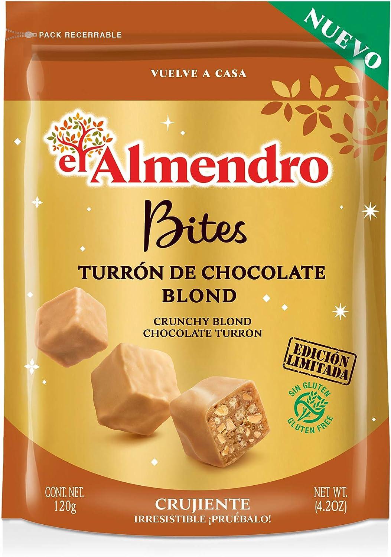 El Almendro Bites De Turrón De Chocolate Crujiente Blond - 120 gr ...