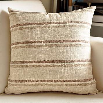 Amazon.com: Almohada con forma de paño de lino almohada ...