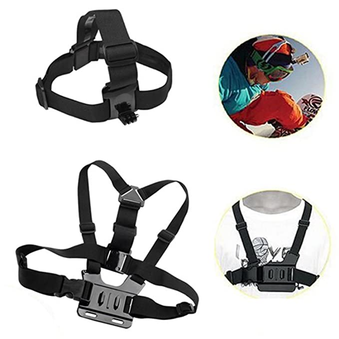 Arnés de pecho + Head hombro para cámaras GoPro Hero 3 2 1 ...
