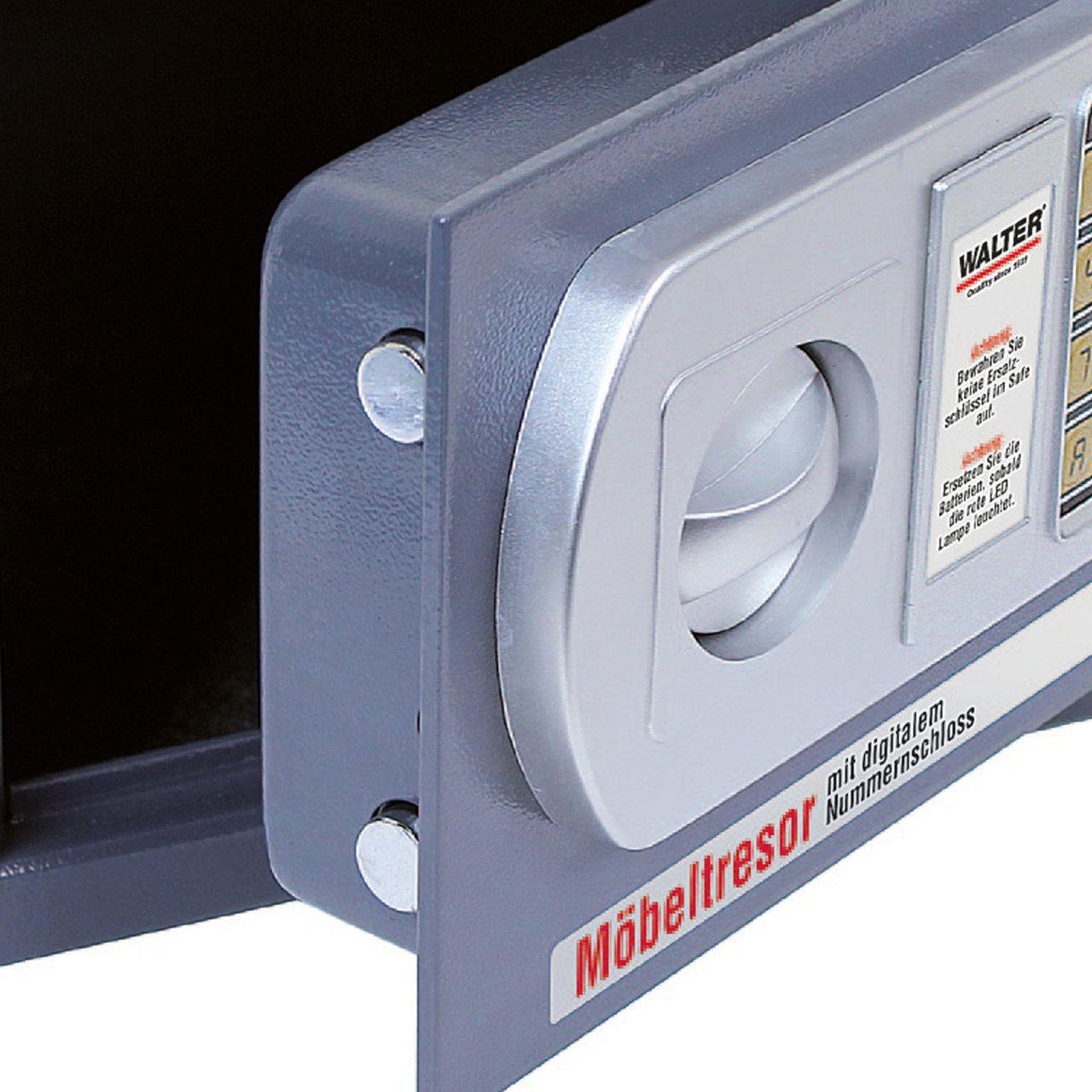 Wandtresor mit digitalem Nummernschloss Möbeltresor WALTER Elektronischer Safe