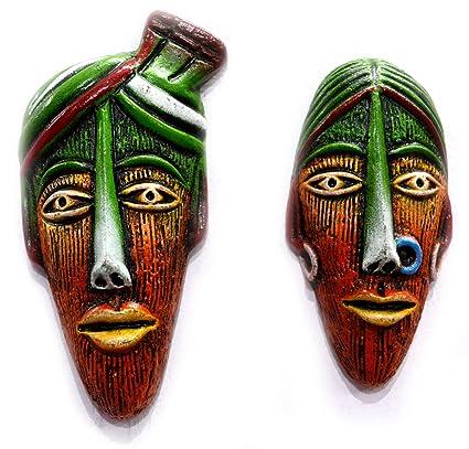 Buy Amazing India Terracotta Home Decor Multicolour Tribal Couple