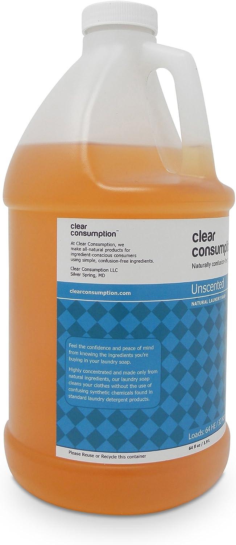 64 oz Clear consumo Natural sin aroma jabón de lavandería líquido ...