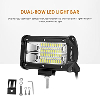 "Auxbeam Led Light Bar 5"" Led Pods Flood Double Row Light bar Led Driving Lights Off Road Lights for Trucks Jeep ATV UTV SUV Boat Marine: Automotive"