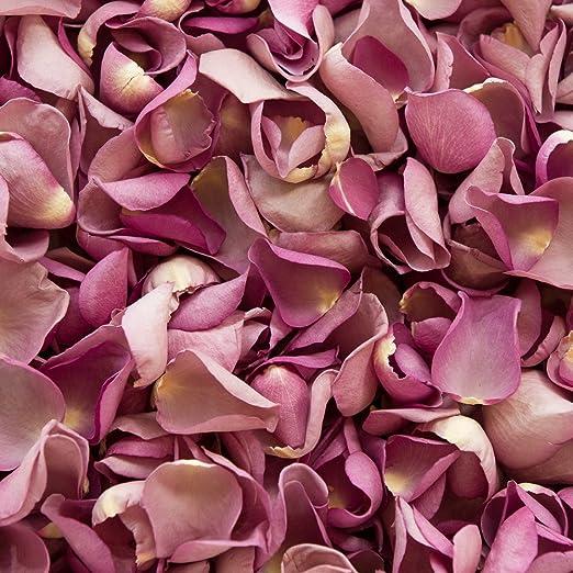 Confeti de pétalos de rosa biodegradable para bodas, lavanda, 30 x ...