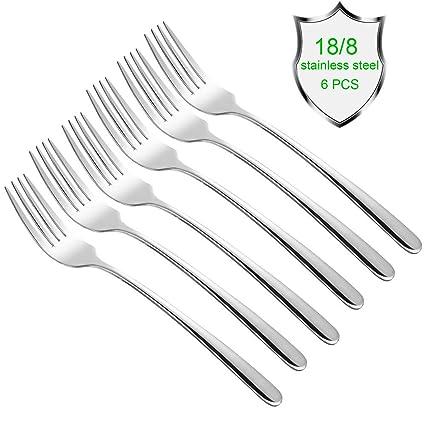 qucher 7.4 tenedores de mesa de cena tenedores de carne tenedor de mesa de cubierto